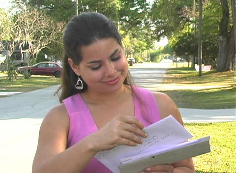 Hot Brunette Gets her Mail-5a Footage