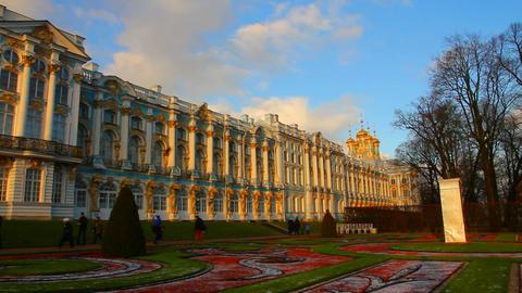 Catherine Palace - Pushkin, Tsarskoe Selo, St. Pet Stock Video Footage