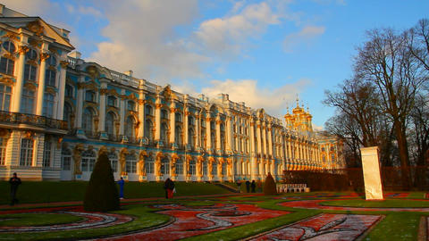 Catherine Palace - Pushkin, Tsarskoe Selo, St. Pet Footage