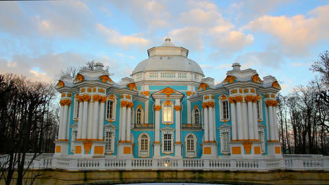 The ancient building in Pushkin Park, Tsarskoye Se Footage