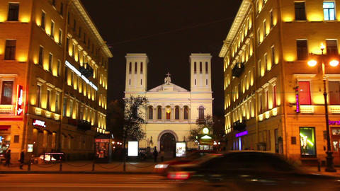 Church on Nevsky Prospect in St. Petersburg, Russi Footage