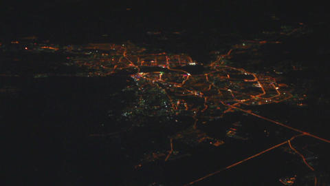 Night view on Kazan city from the height - from fl Stock Video Footage
