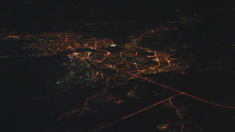 Night view on Kazan city from the height - from fl Footage