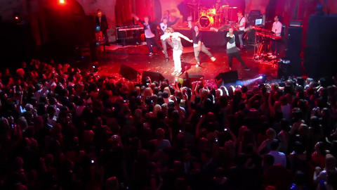 Concert of Dima Bilan in Ufa, Russia Stock Video Footage
