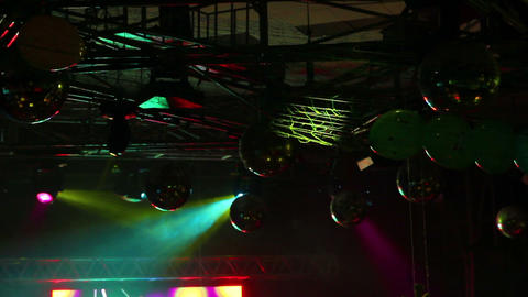 lighting equipment at concert Stock Video Footage