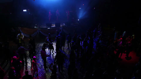 People dancing on party - timelapse Stock Video Footage