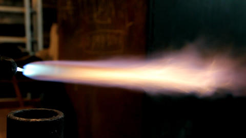 gas welding flame Stock Video Footage