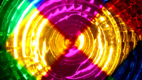 Abstract Colors Lights Turning stock footage