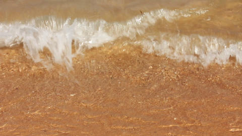 sea waves and sand beach Stock Video Footage