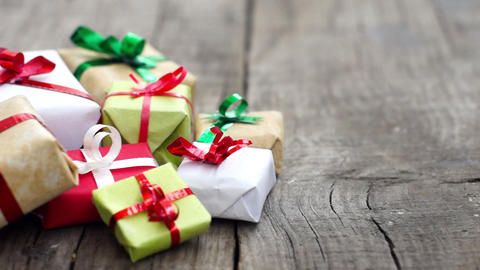 Wrapped Gifts Stock Video Footage