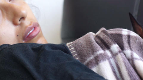 Woman sleeping Stock Video Footage