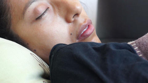Woman sleeping Stock Video Footage