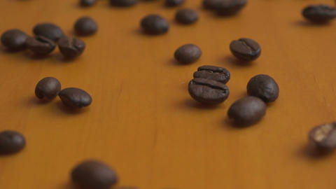 Coffee Bean Macro Dolly Footage