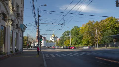 Pirogovskaya street hyperlapse Footage