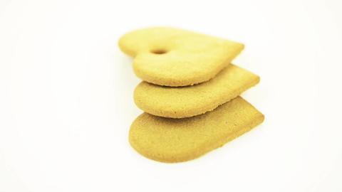 Heart shape cookies Stock Video Footage