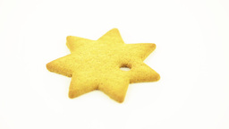 Star shape cookie Stock Video Footage