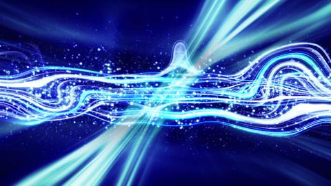 blue energy flow loop Stock Video Footage
