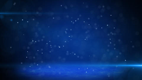 blue light beams and particles loopable background Stock Video Footage
