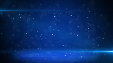blue light beams and particles loopable background Animation