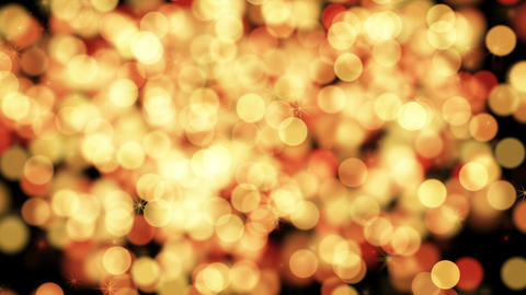 merry xmas from yellow particles loop Stock Video Footage