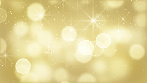 gold bokeh lights particles and starglow loop Stock Video Footage