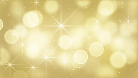 gold bokeh lights particles and starglow loop Animation
