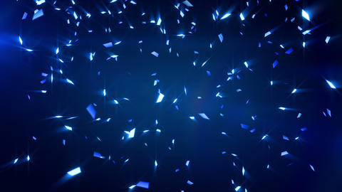 blue shiny confetti background loop Stock Video Footage