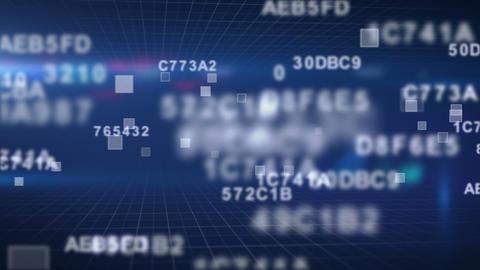 hexadecimal data loopable background Stock Video Footage