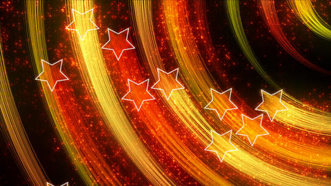 disco stars abstract loopable background yellow or Stock Video Footage
