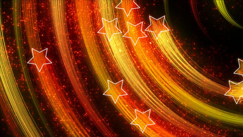 disco stars abstract loopable background yellow or Animation