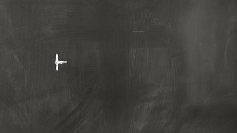 drawing chemical formula on chalkboard Stock Video Footage