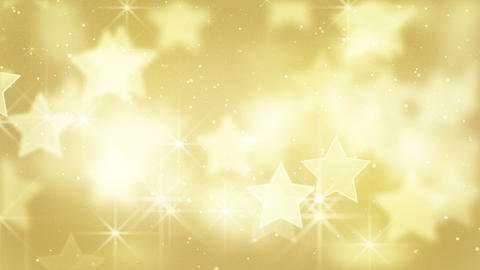 gold bokeh stars and particles loop Animation