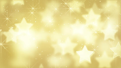 gold bokeh stars and particles loop Stock Video Footage