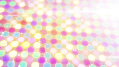 multicolor glowing circles loop flying camera Stock Video Footage