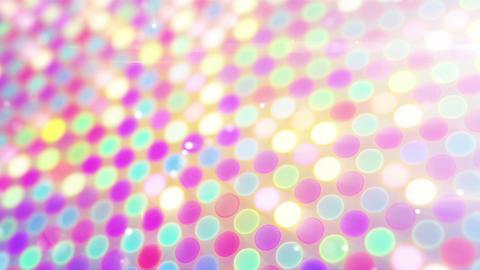 multicolor glowing circles loop flying camera Animation