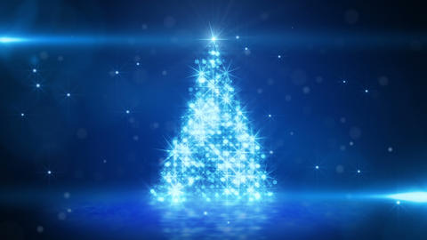 blue light christmas tree last 10s loop Animation