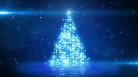 blue light christmas tree last 10s loop Stock Video Footage