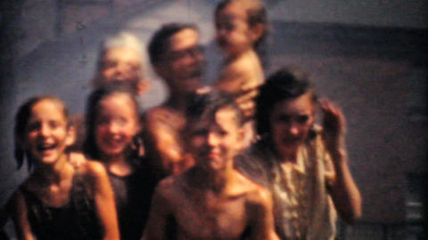 Kids Cooling Off During A Summer Heat Wave 1940 Stock Video Footage