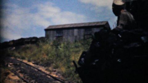 Mining Coal Near Pittsburg Pennsylvania-1940 Vinta Stock Video Footage