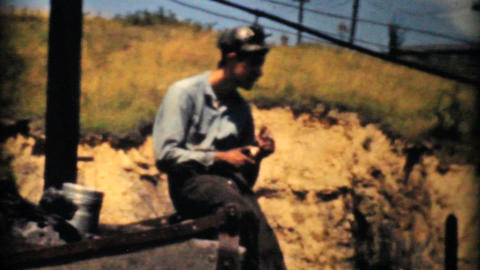 Mining Coal Near Pittsburg Pennsylvania-1940 Vinta Stock Video Footage