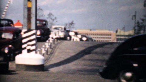 Rush Hour Traffic And New Interstate Highway 1940 Stock Video Footage