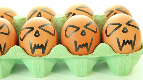 Scary vampire crazy eggs for halloween Footage
