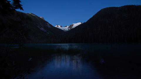 Joffrey Lake day to night time lapse Stock Video Footage