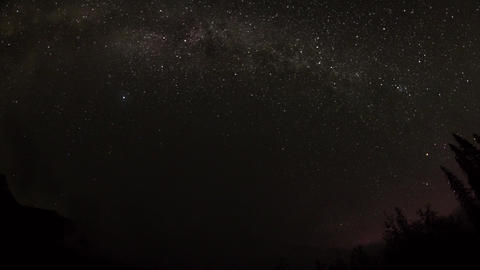 Fish eye view of cloudy night sky with milky way Stock Video Footage