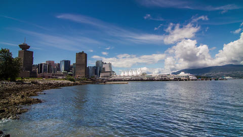 Cloudy afternoon in Vancouver downtown Stock Video Footage