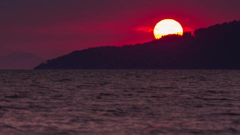 Sunset time close up Stock Video Footage