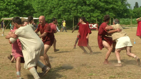 harpastum roman celt 01 Stock Video Footage