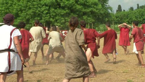 harpastum roman celt 01 Stock Video Footage
