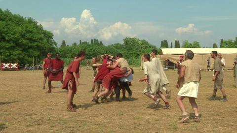 harpastum roman celt 03 Stock Video Footage