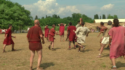 harpastum roman celt 07 Stock Video Footage